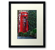 So very British! Framed Print