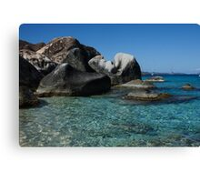 Sunny Caribbean Beach - The Baths on Virgin Gorda, British Virgin Islands, BVI Canvas Print