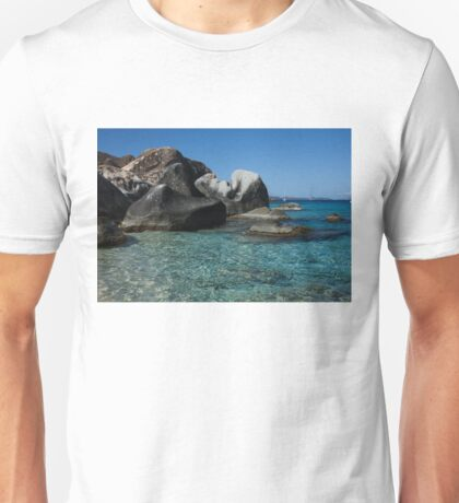 Sunny Caribbean Beach - The Baths on Virgin Gorda, British Virgin Islands, BVI Unisex T-Shirt