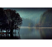 Morning sun moves up Loch Ard Photographic Print