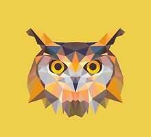 Geometric Owl by KingdomofArt