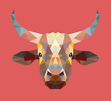 Geometric Steer by KingdomofArt