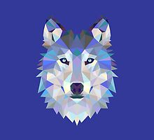Geometric Wolf by KingdomofArt