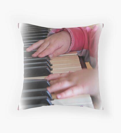 ~ Ten Tiny Fingers ~ Throw Pillow