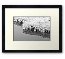 Icy Framed Print