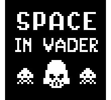 Space In Vader - pixel art Photographic Print