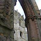 Fountain Abbey through an arch by monkeyferret