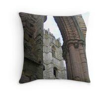 Fountain Abbey through an arch Throw Pillow