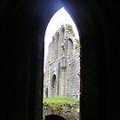 Fountain's Abbey arch through an arch by monkeyferret