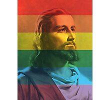 Gay Pride Jesus Photographic Print