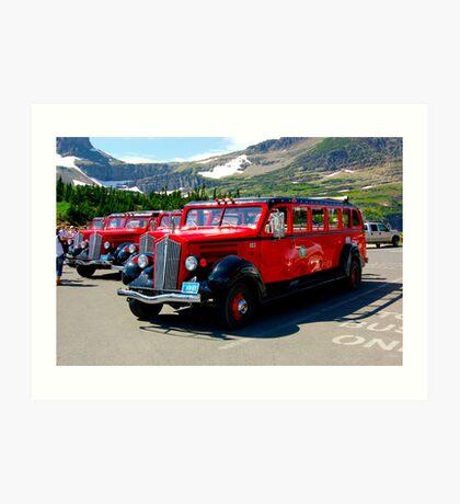 Glacier Park Bus Art Print