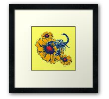 Scorpion Flowers Framed Print