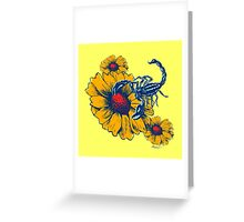 Scorpion Flowers Greeting Card