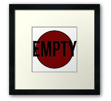 Empty (Red) Framed Print