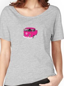 Pink Split Screen VW Kombi Pick up Women's Relaxed Fit T-Shirt
