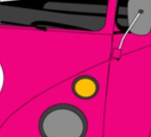 Pink Split Screen VW Kombi Pick up Sticker