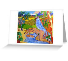 Paradise Queensland Style , cushion , throw pillow  Greeting Card