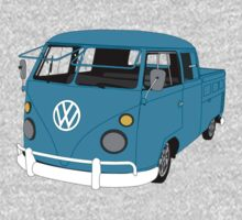 Blue Split Screen VW Kombi Pick up Kids Clothes