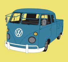 Blue Split Screen VW Kombi Pick up Kids Clothes