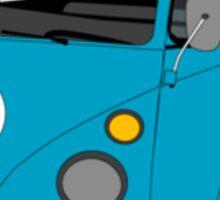 Blue Split Screen VW Kombi Pick up Sticker