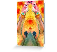 Mother Nature - Abstract Goddess Art By Sharon Cummings Greeting Card