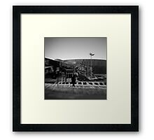 The mystery of life presses down through his footsteps Framed Print