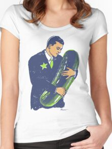 Hold The Pickle - American Oddities #3 Women's Fitted Scoop T-Shirt