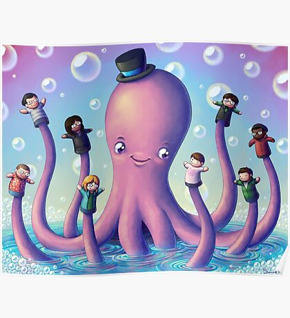 Octo-Puppet Playtime Poster