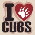 I heart Cubs by Alexander Evans