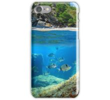 Mediterranean cove and rocky seabed with fish underwater iPhone Case/Skin