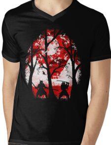 Samurai Battle Mens V-Neck T-Shirt