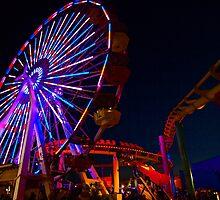 Ferris Wheel (low, wide angle) by Stephen Burke