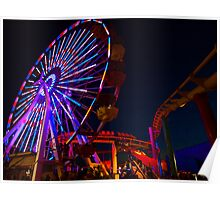 Ferris Wheel (low, wide angle) Poster
