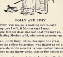 Miniature Under the Window Pictures & Rhymes for Children Kate Greenaway 1880 0033 Polly and Susy Sticker