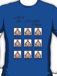 Many Saturn Face T-Shirt