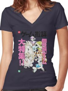 Prototype Pokemon Women's Fitted V-Neck T-Shirt