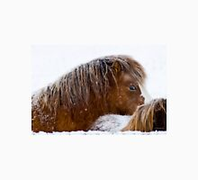 Fuzzy in the Snow, horses in Montana winter Unisex T-Shirt