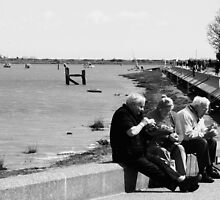 Eating Cockles by the Water, Maldon, UK by MichelleRees