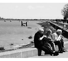 Eating Cockles by the Water, Maldon, UK Photographic Print