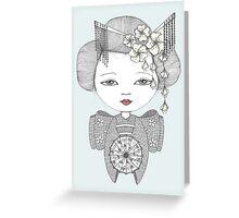 Little Blossom Girl Greeting Card