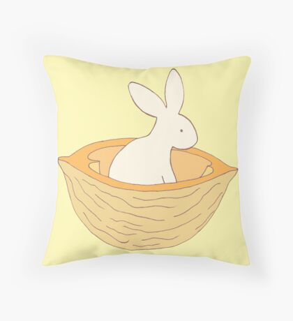 Apricot in a Nutshell - from my original series, Apricot World Throw Pillow