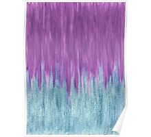 Aqua Sparkle Berry Abstract Poster