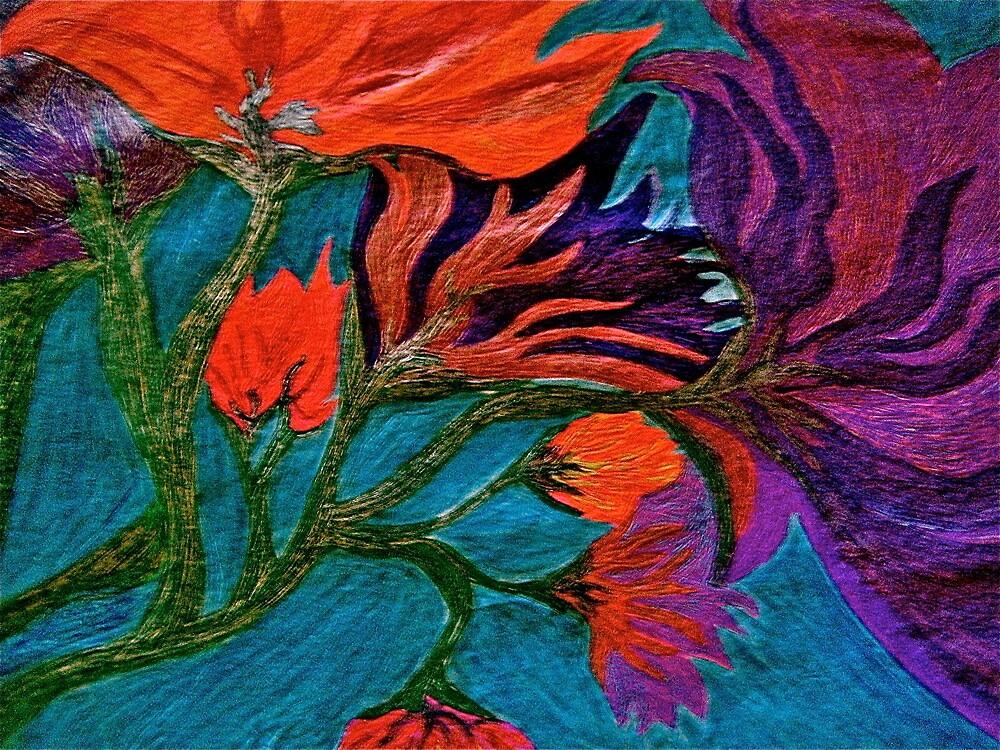 water flowers by Ameekathleen