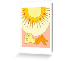 Apricot Sun - from my original series, Apricot World Greeting Card