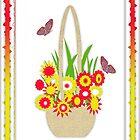 Flowers butterfly Card by Brenda Cheason