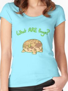 What ARE Frogs? (Desert Rain edition) Women's Fitted Scoop T-Shirt