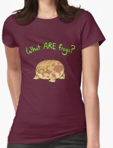 What ARE Frogs? (Desert Rain edition) Womens Fitted T-Shirt