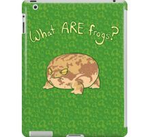 What ARE Frogs? (Desert Rain edition) iPad Case/Skin