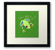 What ARE Frogs? (Tree edition) Framed Print