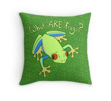 What ARE Frogs? (Tree edition) Throw Pillow